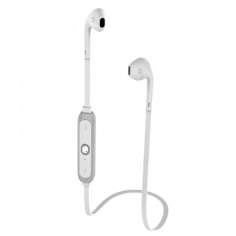BLUETOOTH HEADPHONES SPORT GETTTECH TUNE GAT-29701B, IN EAR, WIRELESS, WHITE/GRAY (GAT-29701B)