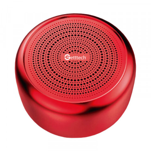 GETTTECH PORTABLE SPEAKER MELODIC BLUETOOTH 5.0 USB 2.0 500MAH RED (GAM-31501N)
