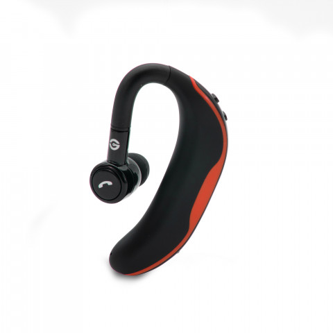 HANDSFREE HEADSET GETTTECH INTUNE GAI-29901R, BLUETOOTH, WIRELESS, WITH MICROPHONE, RED (GAI-29901R)