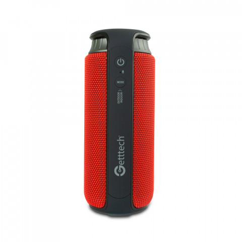 GETTTECH PORTABLE SPEAKER SOUNDCUP BEAT BLUETOOTH 4.2 WATER RESISTANT (IPX4),X-BASS USB 2.0 4000MAH RED/BLACK (GBS-31504R)